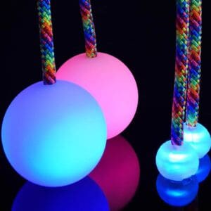 LED poi and knobs